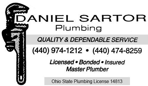Welcome To Danielsartorplumbing Com Ohio Master Plumber